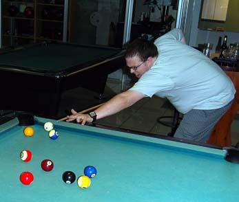 Williams shows his pool expertise