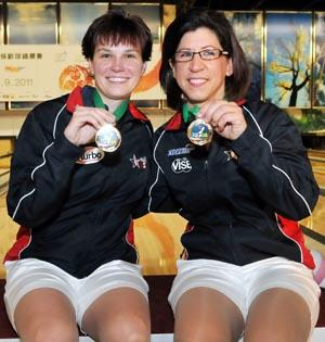 Doubles Gold medalist, Shannon Pluhowsky and Liz Johnson of USA