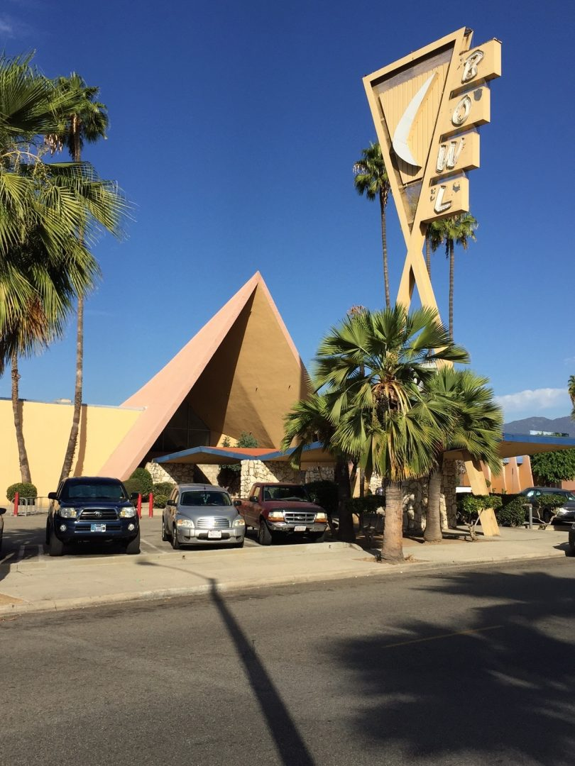 "For most passersby, the most eye-catching element of Covina Bowl's ""Googie"" architecture is its street sign."