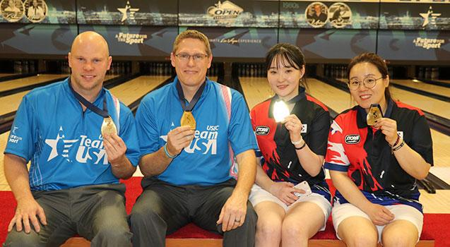 USA Men, Korea Women Bag Doubles Gold at World Championships