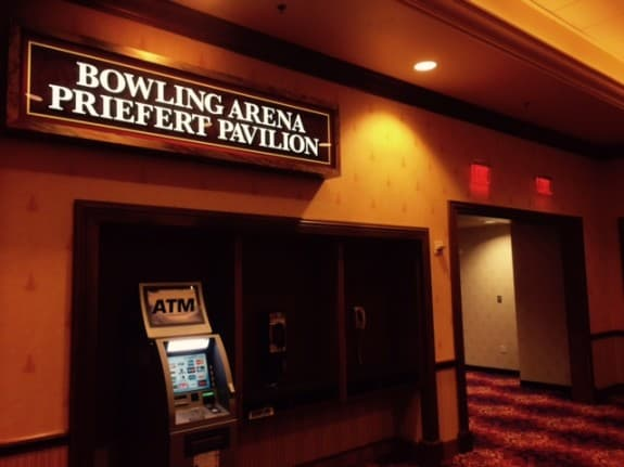 This is the sign bowlers and fans will look for when entering the South Point Bowling Plaza.