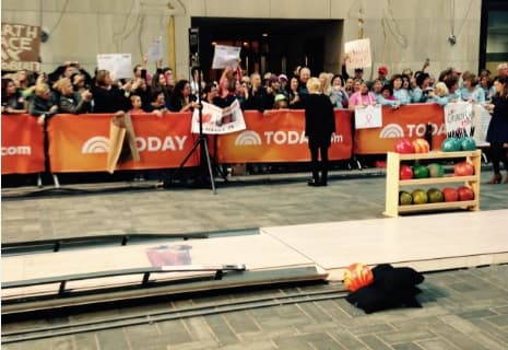"The Today Show dubbed the lane installed for today's episode ""Rockefeller Alley"" after the show's location at Rockefeller Center in New York City."