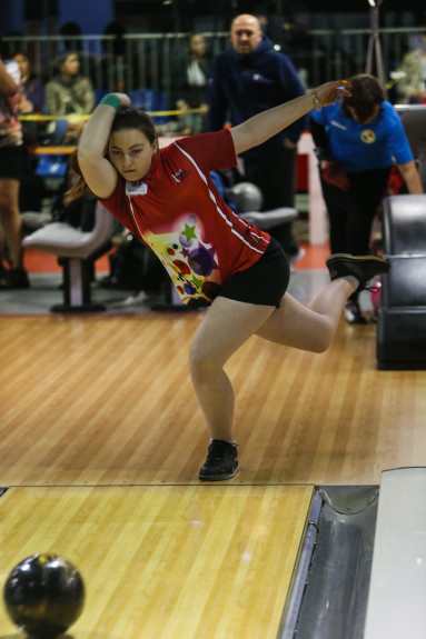 At just 16 years of age, Russia's Maria Bulanova bowled the highest game by a woman thus far with 299.