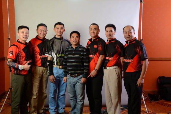Frank Zhao (center) with his Chinese bowlers