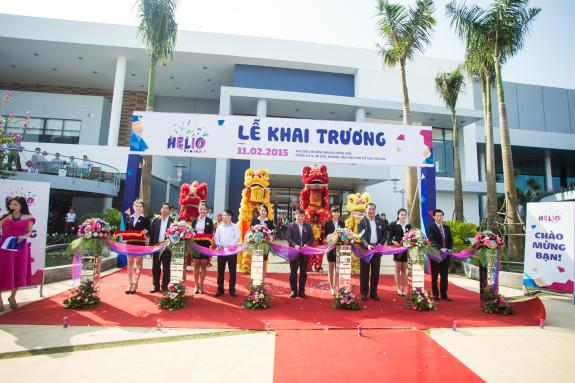 The ribbon-cutting ceremony's at Vietnam's largest family entertainment center.
