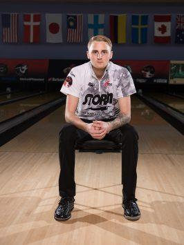 Sep 4, 2016; Jesper Svensson during a magazine portrait shoot for the Bowler Journal International at Thunderbowl Lanes in Allen Park, MI. Credit: Tim Fuller