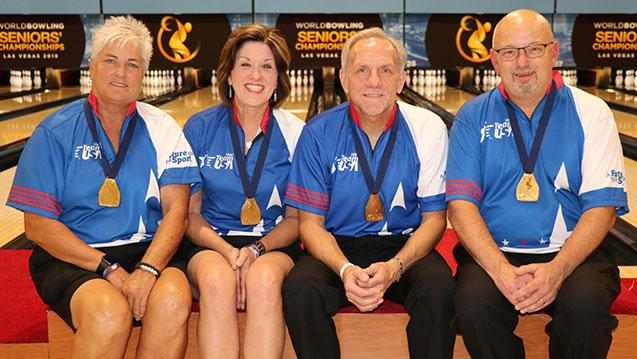 United States Sweeps Doubles Gold Medals at 2019 World Bowling Senior Championships