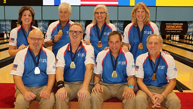 Three-Peat: USA Sweeps Team Gold Medals for Third Straight Time in World Bowling Senior Championships